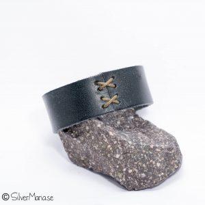 Servettring av läder - SilverMaria04026