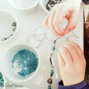 Pärla halsband Silvermaria