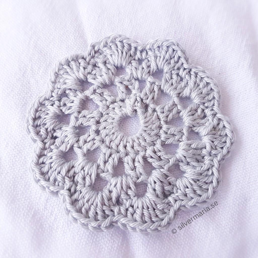 Virka glasunderlägg, gratis beskrivning - Silvermaria.se DIY crochet coaster